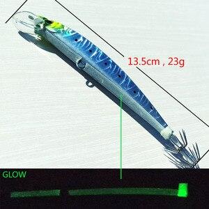 Image 2 - 5 шт., 14 см/23 г, тонущий джиг осьминог, джиг кальмар, искусственная жесткая приманка для рыбной ловли