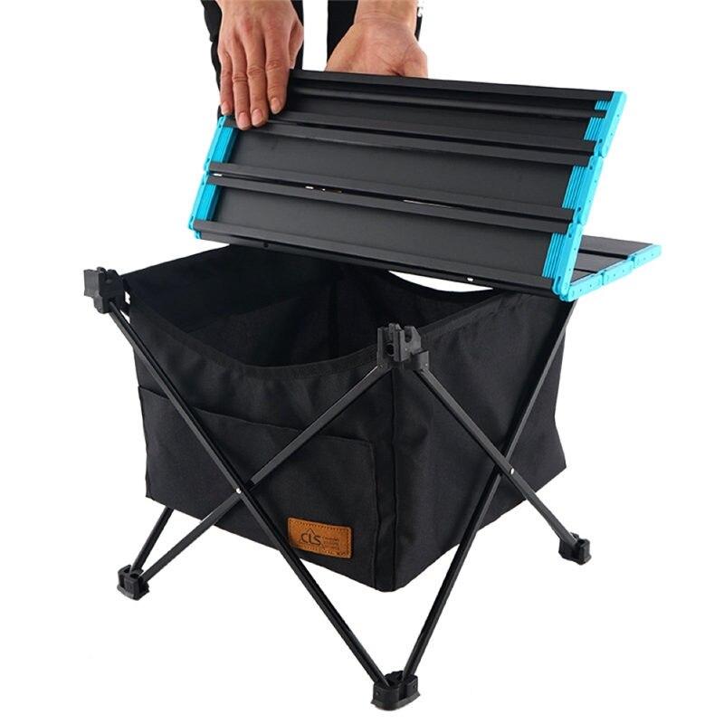 Ao ar livre dobrável mesa de armazenamento cesta de piquenique mesa de armazenamento pendurado saco bolso invisível à prova duágua acampamento churrasco u3