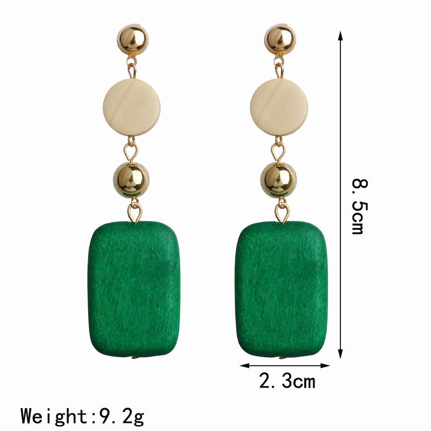 Hello Miss New personality temperament earrings retro square geometry long earrings women 39 s pendant earrings in Stud Earrings from Jewelry amp Accessories