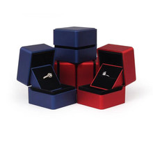 Stock velvet jewellery box high grade proposal confession ring gift boxes wholesale(China)