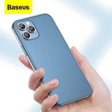Baseus Luxus Telefon Fall Für iPhone 12 Pro Max Mini Dünne Stoßfest Matt Klasse Zurück Abdeckung Für iPhone 12Pro Max 12Mini Fundas