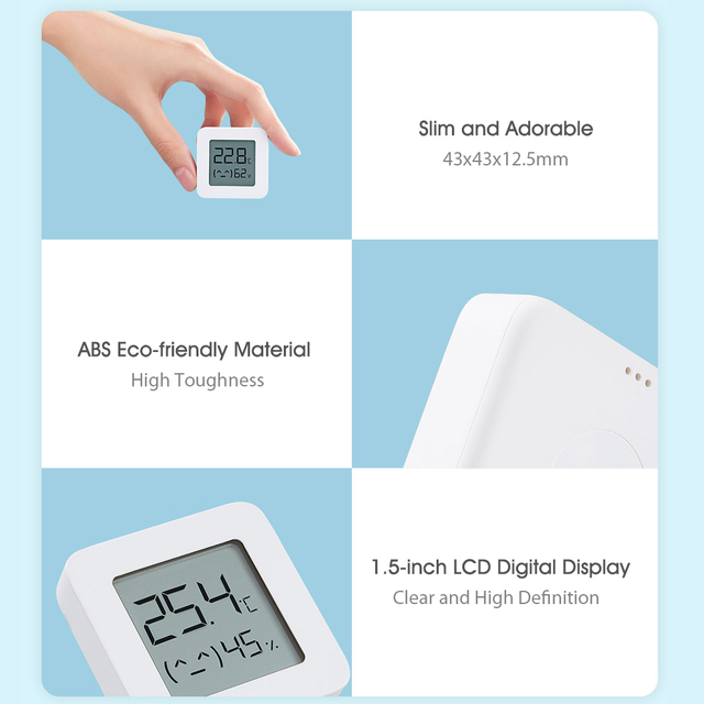 Hot Xiaomi Mijia Bluetooth Digital Thermometer 2 Wireless Smart Electric Digital Hygrometer Humidity Sensor Work With Mijia APP 5