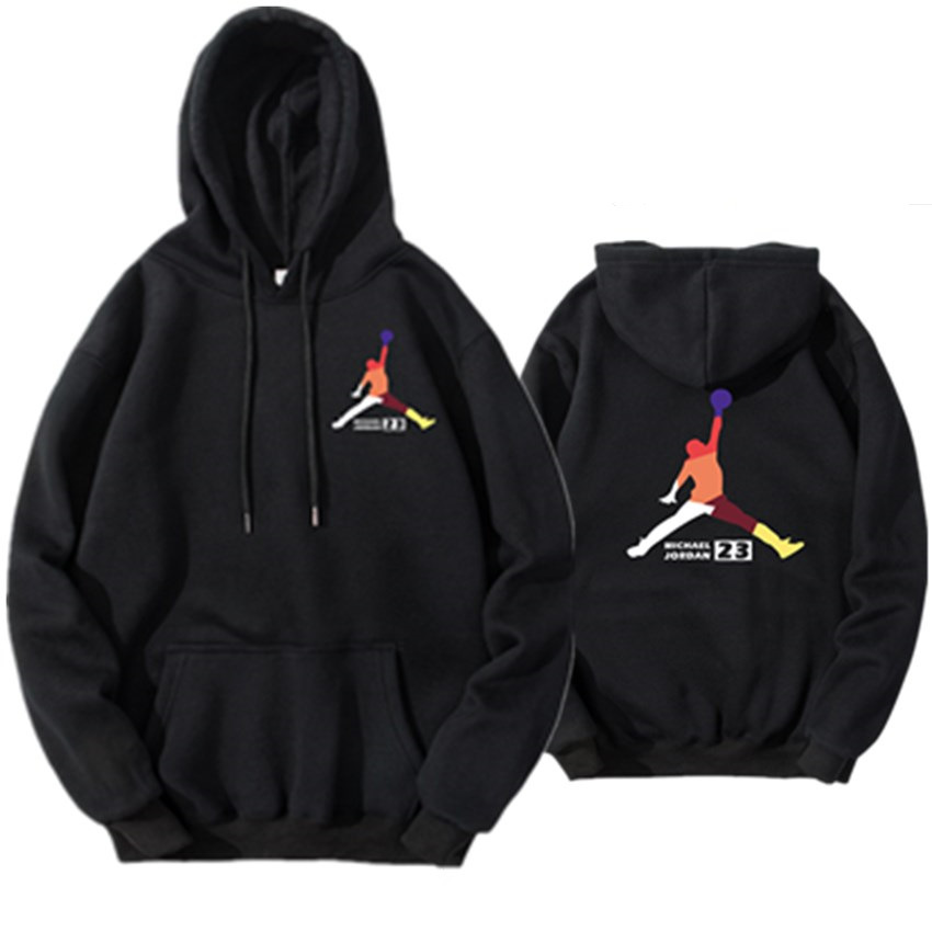 New Jordan Print Hoodies Sweatshirts Skateboard Men Women Print Pullover Hip Hop Streetwear Casual Black Gray Hoody Oversize