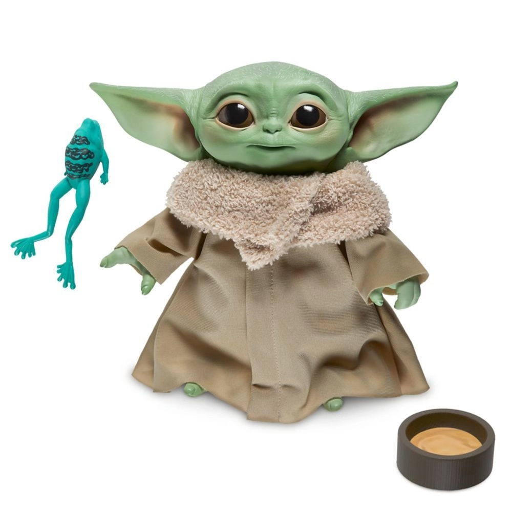 The Mandalorian Baby Yoda Waterproof Sticker And Toy Keychain For Kids Gift