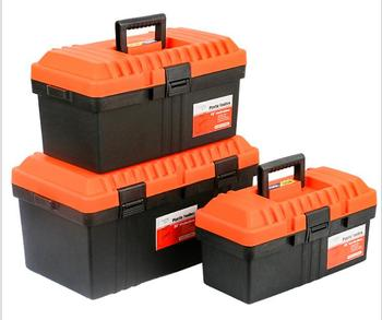 Hard small Carrying Case ABS Safe Storage bins plastic tool box with shoulder belt
