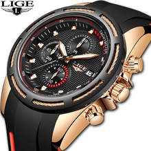 2019 New Luxury Brand LIGE Men Military Sports Watches Men's Quartz Date Clock Man Casual Leather Wrist Watch Relogio Masculino 2018 naviforce luxury brand men analog led watches man leather quartz clock men s military sports wrist watch relogio masculino