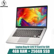 LHMZNIY FA-1 14.1 inch Laptop Windows10 Notebook 4GB 256GB SSD FHD screen intel E8000 Quad-core WIFI Camera slim Student laptop