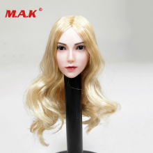 1/6 Scale Asian Beauty Long Straight Black Bangs Hair Head Carving Fit 12 Pale Skin Body 12body Gift Collection for fans