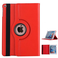 Smart Stand Holder For Apple Ipad 9.7 Inch Protect Sheath 360 Rotating Magnetic Auto Wake Sleep Flip Litchi PU Leather Case 2yw