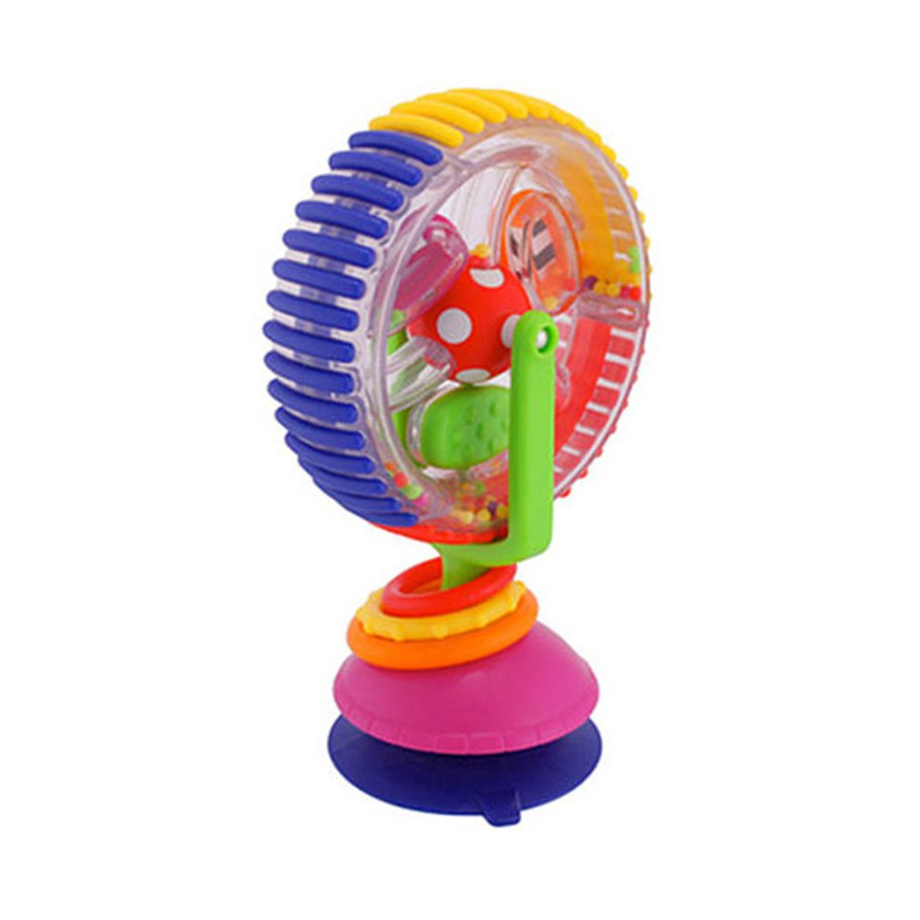 Baby Toys 0-12 Months Wonder Wheel Rattles Rotating Ferris Wheel With Suction Cup Inspire Sense Education Toy Baby Stroller Toys