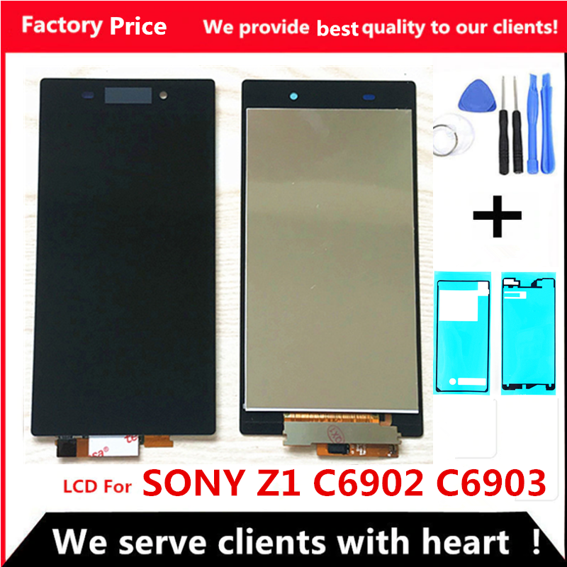 5.0 Inch 1920*1080 Touch Screen For Sony Xperia Z1 L39 L39H C6902 C6903 LCD Display Digitizer Sensor Glass Panel Assembly