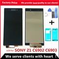 Pantalla táctil de 5,0 pulgadas 1920*1080 para Sony Xperia Z1 L39 L39H C6902 C6903 LCD pantalla digitalizador Sensor Panel de vidrio ensamblaje