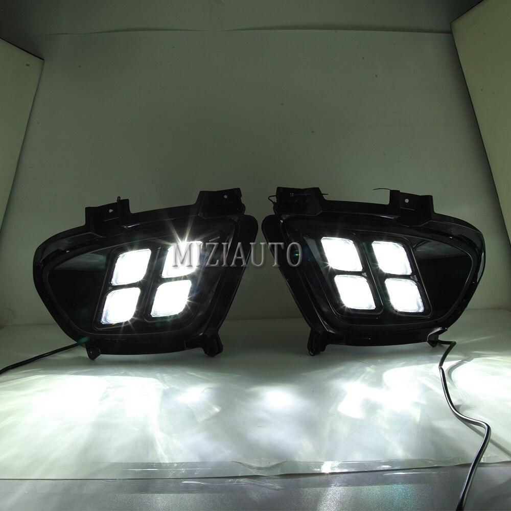 FidgetKute 1set DRL LED Daytime Running Light Fog Driving Lights for KIA Sorento 2015-2017