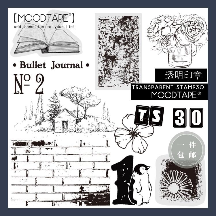 Moodtape Vintage Clear Stamp For DIY Scrapbooking/photo Album Decorative Transparent Stamp Plant Animal Number Rubber Stamp Seal