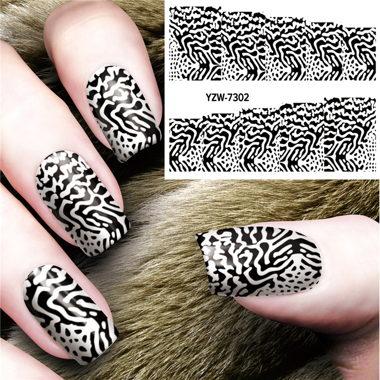 20 Designs <font><b>Nail</b></font> <font><b>Stickers</b></font> <font><b>Sexy</b></font> Black Style For Woman <font><b>Nail</b></font> <font><b>Sticker</b></font> Decals <font><b>Nail</b></font> Art Decorations Wraps Flakes Sliders Manicure image