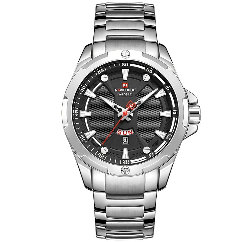 Men's Watches Top Luxury Brand NAVIFORCE Analog Watch Men Stainless Steel Waterproof Quartz Wristwatch Date Relogio Masculino