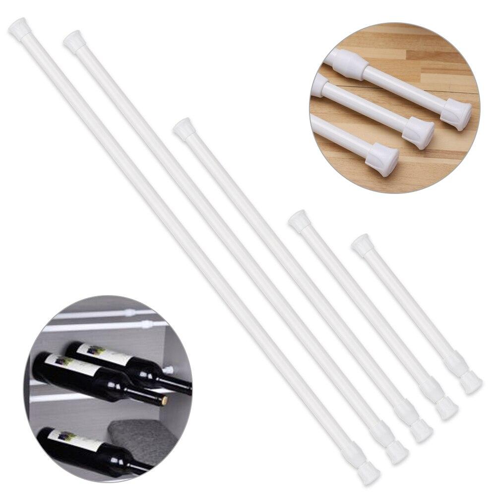 Multi Purpose Spring Loaded Extendable Sticks Telescopic Net Voile Tension Curtain Rail Pole Net Rods Curtain Telescopic Pole
