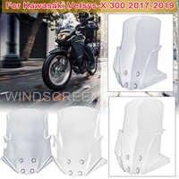 Windschutzscheibe Pare-brise Für Kawasaki Versys X-300 VERSYS-X 300 Motorrad Windschutz Smoke Klar Windabweiser Abdeckung VERSYS X300