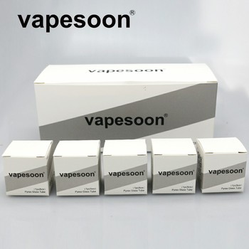 40pcs Original VapeSoon Replacement Extend Glass Tube For SMOK TFV8  Baby Bubble Glass Tube