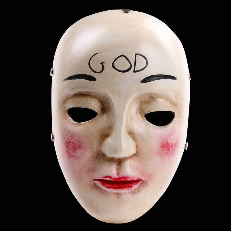 Maschere di Halloween Il Purge Mask Dio Croce Spaventoso Partito di Cosplay Prop Collection Full Viso Resina Creepy Horror Movie Masque