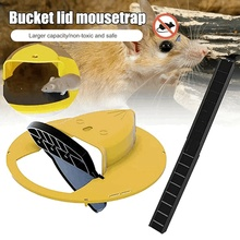 Mice Trap Reusable Plastic Smart Flip Slide Bucket Lid Mouse Rat Trap Humane Or Lethal Trap Auto Reset Door Style Multi Catch