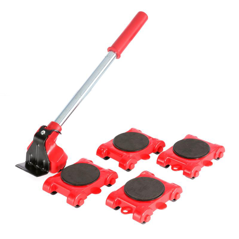 2020 New Dropship Furniture Mover Tool Set Heavy Stuff Transport Lifter 4 Wheeled Mover Roller with Wheel Bar Moving Device Tool-2
