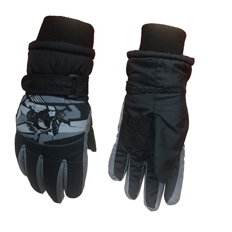 Winter Ski gloves kids Windproof waterproof Warm Cycling Snow Snowmobile snowboard Full Finger Mitten Adjustable ski