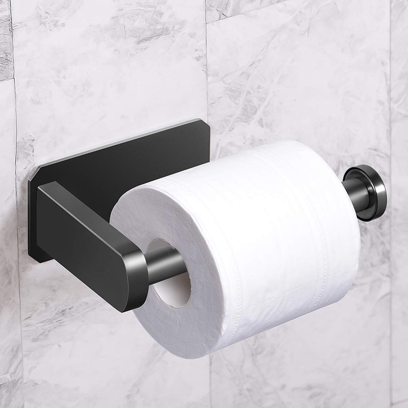 Toilet Paper Holder Self Adhesive Kitchen Washroom Adhesive Toilet Roll Holder No Drilling for Bathroom Stick on Wall Stainless