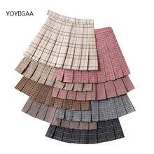 Женские плиссированные юбки модная женская мини юбка с высокой
