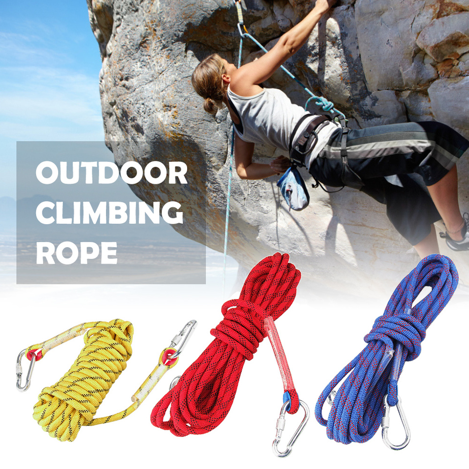 Outdoor Climbing Rope Blue-red, 32 Static Rock Climbing Rope Escape Rope Ice Climbing Equipment Fire Rescue Rope