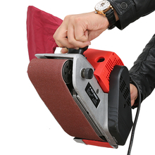 1380W Belt Sander Portable Polishing Machine Flat Sanding Machine Woodworking Polisher with free gift 20 pcs of belt