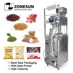 ZONESUN 10-1000g dużej pojemności automatyczna maszyna napełniająco-zgrzewająca żywności ziarna kawy ziarna moc torba powrót Seal pakowarka