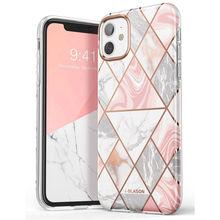 i-Blason For iPhone 11 Case 6.1 inch (2019 Release) Cosmo Lite Stylish Hybrid Premium Protective Slim Bumper Marble Back Cover