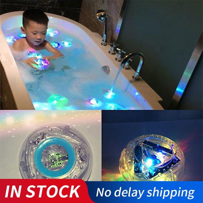 סוללה מופעל מתחת למים מזרקת אור דיסקו ספא אמבטיה אור בריכת שחייה לצוף מנורת LED אור ילדים בריכת אור