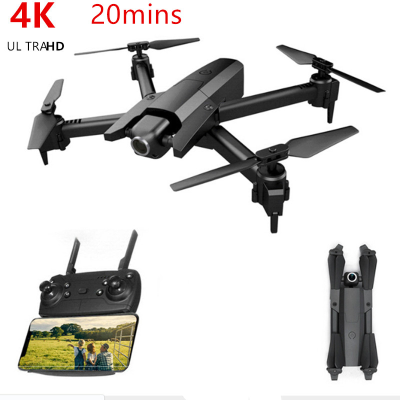 RC Drone 4K HD Camera WIFI Quadcopter FPV Pro Drones Foldable Helicopter Kids Toys Boys Gifts <font><b>GW106</b></font> VS Drone E58 E520 image