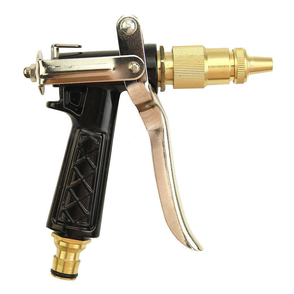 Metal Hose Nozzle High Pressure Garden Auto Car Washing Water Gun Sprayer Adjustable Copper Hose Spray Nozzle Gun