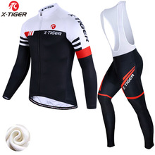 X-Tiger Winter Thermal Fleece Cycling Jersey Set Cycling Clothing Super Warm Mountain Bike Wear Racing Bicycle Clothing Set