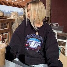 Sweatshirt Hoodies Women Warm Velvet 2020 Winter Goth Casual Black Harajuku Undefined Fashion Streetwear Fleece Oversize Tops
