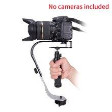 Đa Năng Di Động Hợp Kim Nhôm Ổn Định Camera Phụ Kiện DV Đa Chức Năng Cầm Tay Thiết Kế Cong Gimbal Video Cho Máy Ảnh SLR