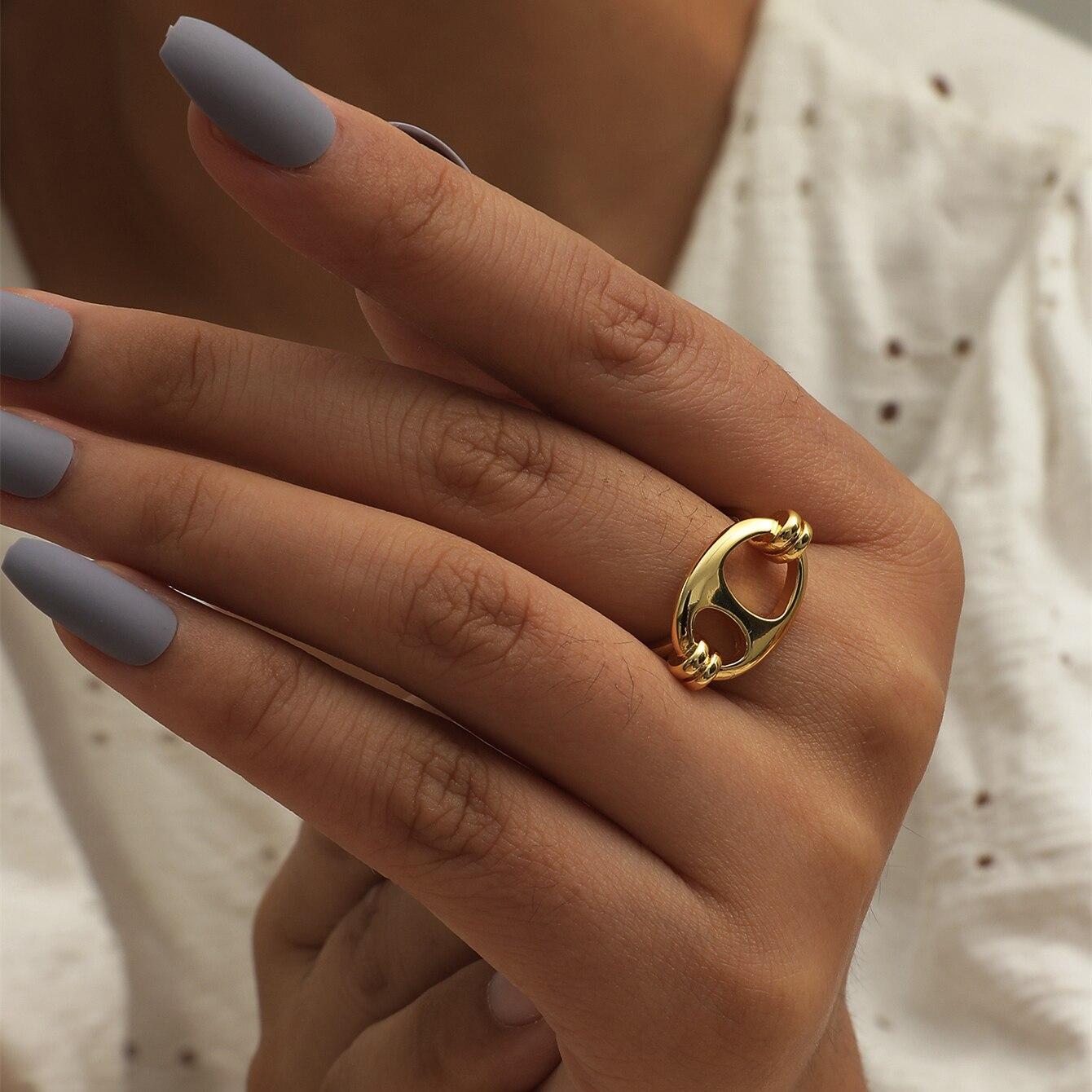 Манго, лаконичное модное регулируемое Открытое кольцо унисекс из нержавеющей стали