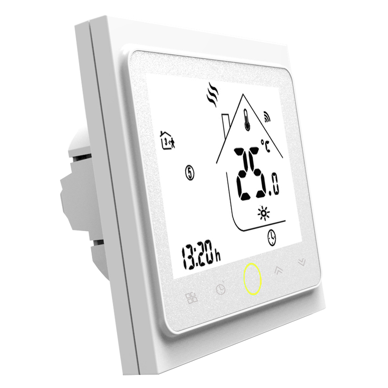 Wifi Thermostat Temperature Controller Lcd Press Screen Backlight For Electric Heating Works Compatible With Alexa Google Home 1