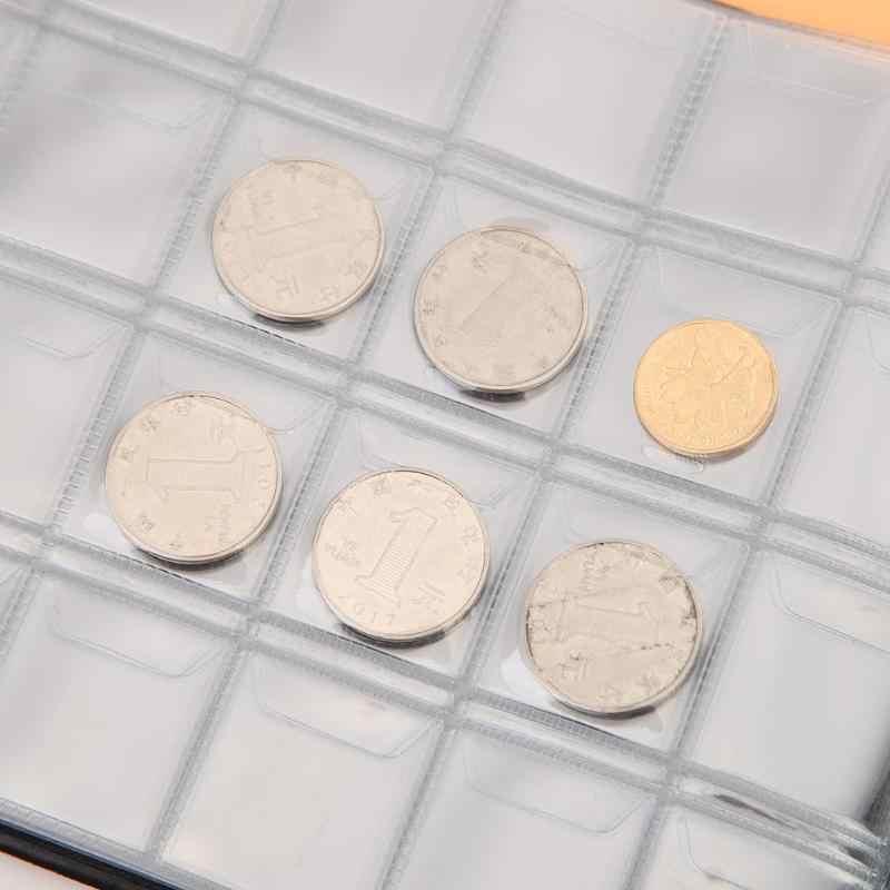 Coleção de moedas álbum livro 240 bolsos coletando dinheiro organizador para coletor titular da moeda álbuns mini moeda penny saco de armazenamento