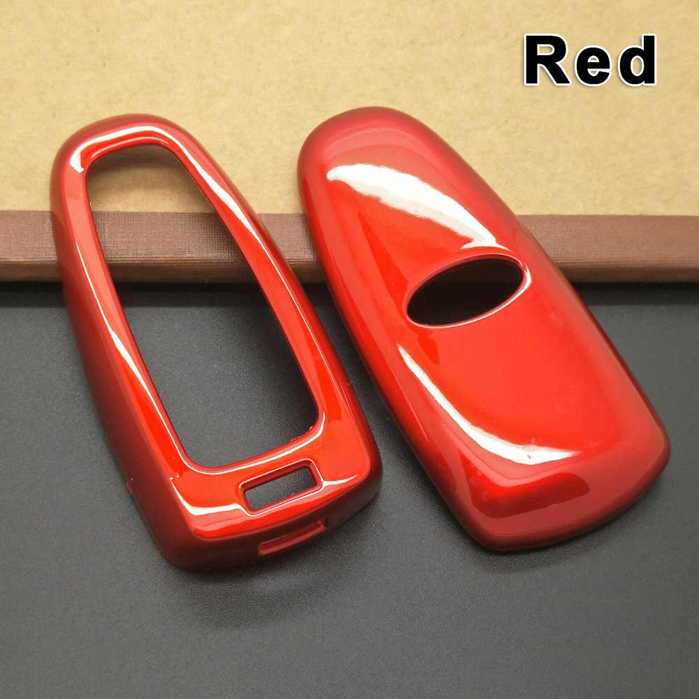 Móc Chìa Khóa Ô Tô Ốp Lưng Trang Trí Bao Da Bảo Vệ Chống Trầy Xước Cho Xe Ford Focus Edge Thoát Phụ Kiện Ô Tô Đỏ/Trắng/ đen/Sợi Carbon Đen