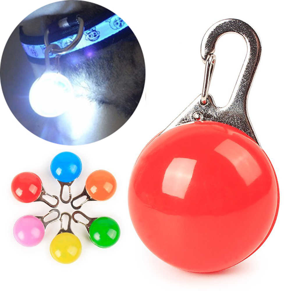 LED Pet Puppy Collar Safety Collar Dog Guide Lights Glowing Pendant Necklace Pet Luminous Bright Glowing Collar in Dark