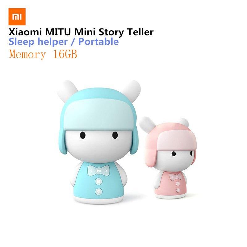 Original Xiaomi MITU Intelligent Story Teller Robot Toy 16GB Mini Robot Speaker Xiaomi Mi Robot Action Figure Kids Birthday Gift