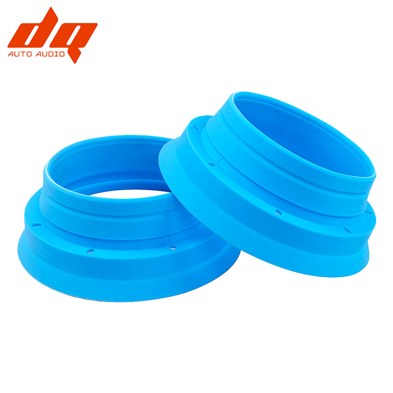 2pcs Car Audio 6.5 Inch Speaker Waterproof Cover Sound Insulation Stop Shock Silica Gel Seal Mount Adapter Rings Grill Universal