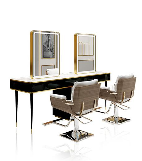 Web Celebrity Hairdressing Mirror With Light Barbershop Mirror With Light Modern Simple Light Luxury Mirror