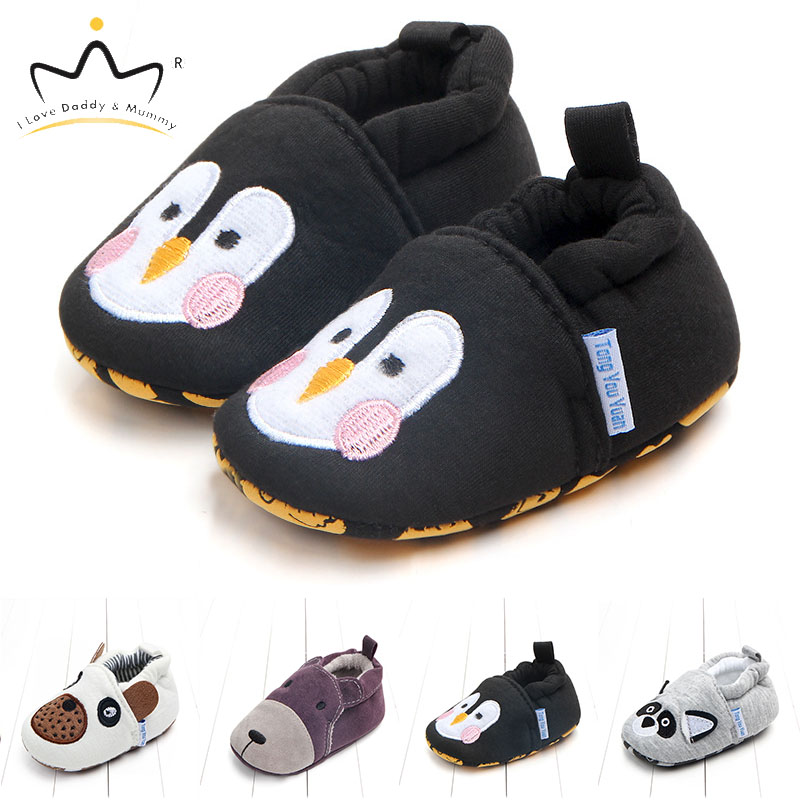 New Soft Cotton Newborn Toddler Shoes For Boys Girls Cute Cartoon Animal Baby Boy Girl Shoes Infant Floor First Walkers