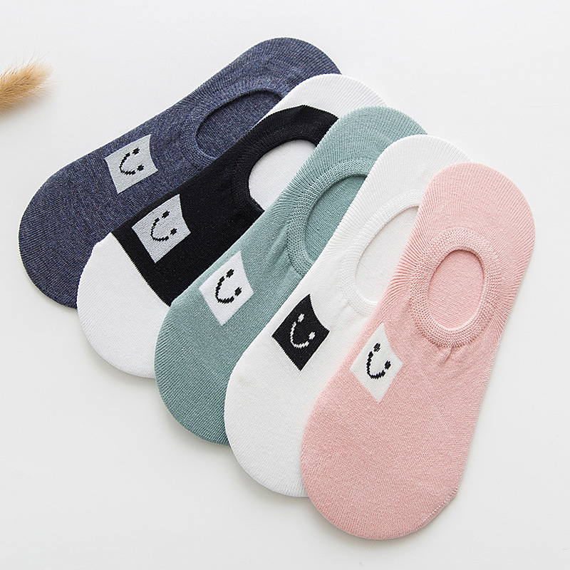 5 Pairs Women Spring Short Cartoon Socks Cotton Funny Colored Unisex Cool Student Style Hipster Socks Cheap Set Sox