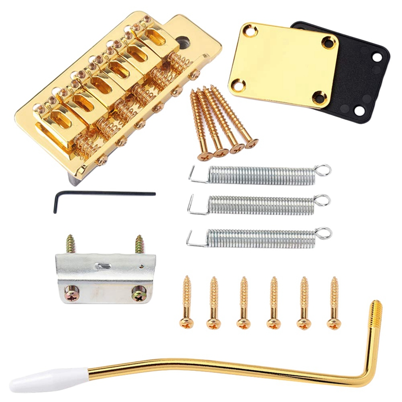 Electric Guitar Tremolo Bridge With Neck Plate ST Replacement Musical Instrument Accessories